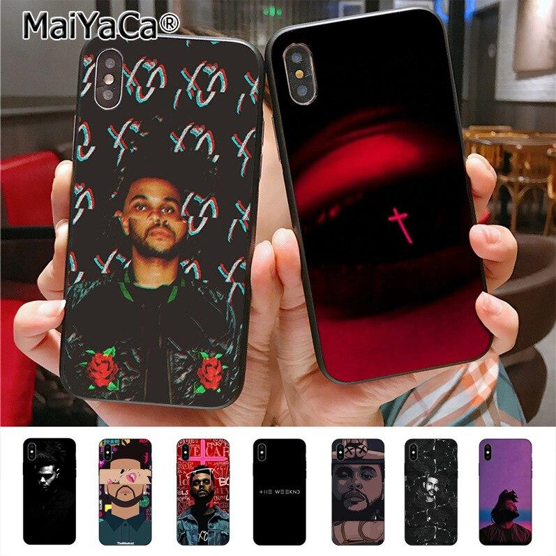 Funda de teléfono MaiYaCa Weeknd diseño único para iphone 11 Pro X 7plus 6 6s 7 8 8Plus 5 5S