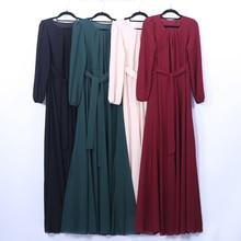 Chiffon Abaya Dubai Muslim Hijab Dress Kaftan Turkish Islamic Clothing Jilbab Femme Musulman Abayas For Women Caftan Dresses