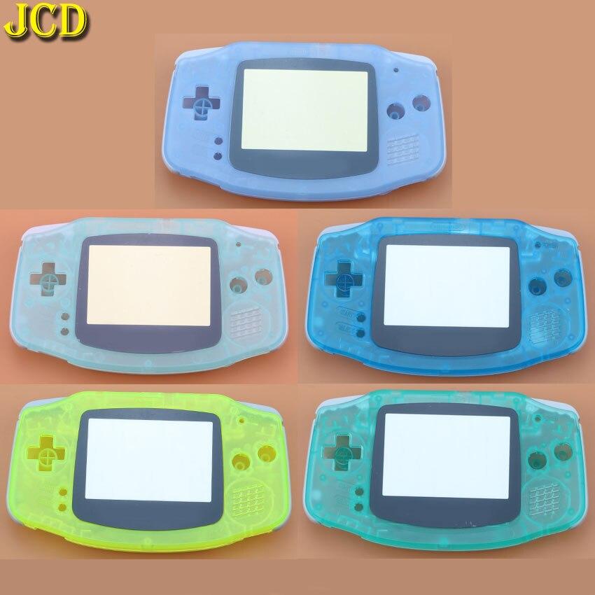 JCD 1 шт. светящийся полный комплект корпус для игровая приставка GBA оболочка чехол + Защитная пленка для объектива экрана + наклейка для Gameboy ...