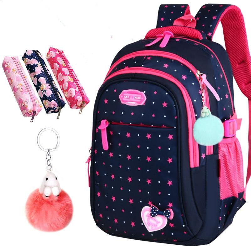 AliExpress - Cute Girls School Bags Children Primary Backpack Stars Print Princess Schoolbag Cute Bowknot Kids Bookbags Mochila Escolar