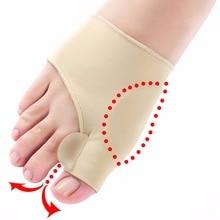 1pair Comfortable Soft Bunion Protector Toe Straightener Silicone Toe Separator Corrector Thumb hall