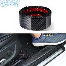 Pegatinas para coche, fibra de carbono de goma estiloso Protector de alféizar de puerta, productos para Ford Focus 2 3 4 Fusion Fiesta Everest Kuga ka