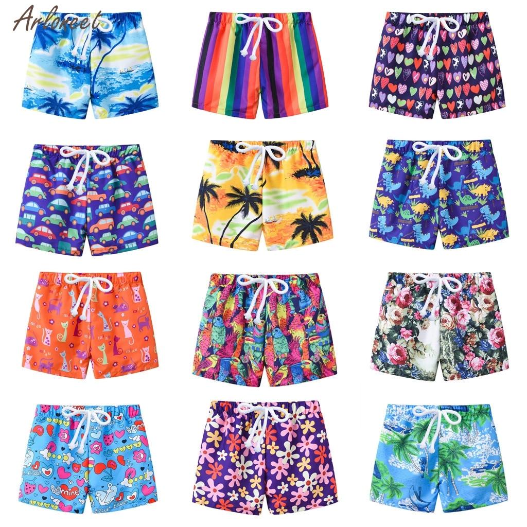 New Child Summer Swim Trunks Boys Swimwear Toddler Baby Kids Boy Summer Print Swimwear Swimsuit Beach Pants Casual Clothes