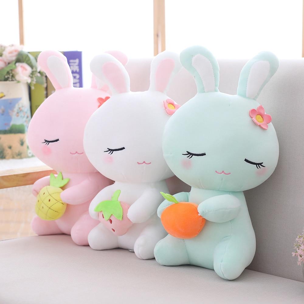 Мягкий цветочный Пасхальный кролик 22 см, плюшевый кролик, мягкая игрушка, кролик, плюшевые мягкие игрушки для детей