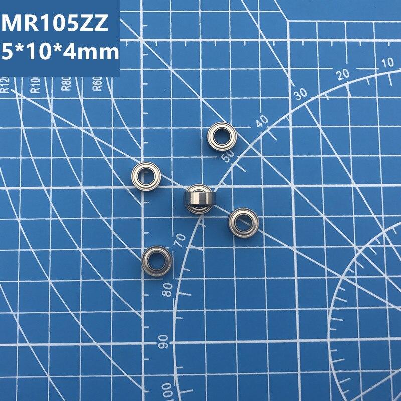 شحن مجاني 50 قطعة/الوحدة MR105 MR105Z المعادن مختومة محمية مصغرة مصغرة أخدود عميق تحمل الكرة MR105ZZ 5x10x4 مللي متر 5*10*4