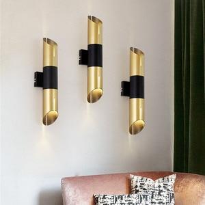Thrisdar Nordic Iron LED Wall Lamp Bamboo Shaped Creative Bar Wall Lamp Cafe Dinning Room Bedroom Bedside Wall Lamp