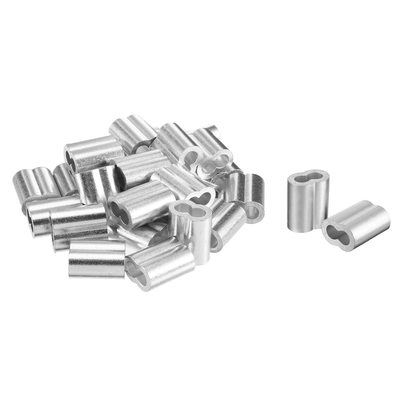 20 pces 3/8 polegada (10mm) diâmetro fio corda liga de alumínio cabo crimps mangas clipe encaixes laço manga virola parar friso fio