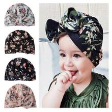 Diademas infantiles en 4 colores, turbante de algodón liso para niñas, gorro elástico, gorro, accesorios para el pelo del bebé