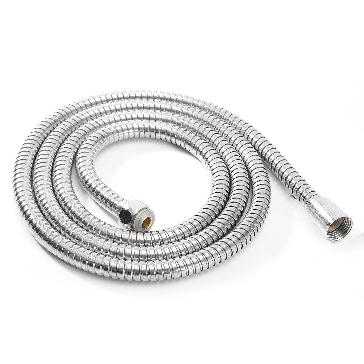 1m/1.5m G1/2 Inch Flexible Shower Hose Plumbing Hoses Stainless Steel Chrome Bathroom Water Head Shower Head Pipe