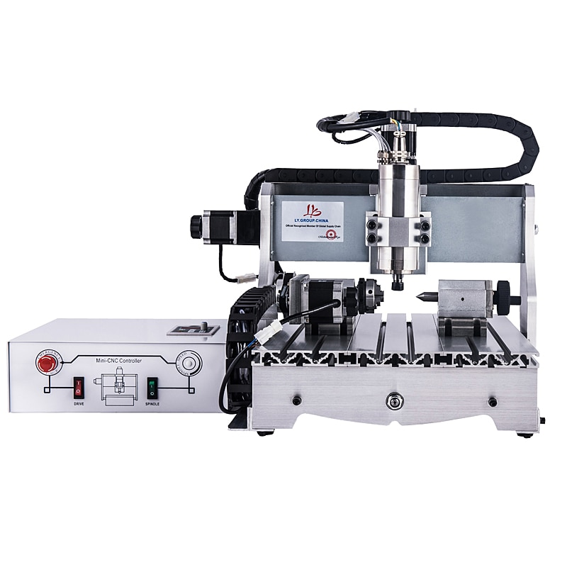 CNC enrutador Nueva fresadora 4030Z 1.5KW 4 ejes USB máquina de grabado