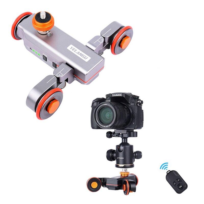 Control remoto motorizado Yelangu L4 Dolly Slider Video riel eléctrico Track Slider para DSLR Canon Nikon Gopro Cámara teléfono inteligente