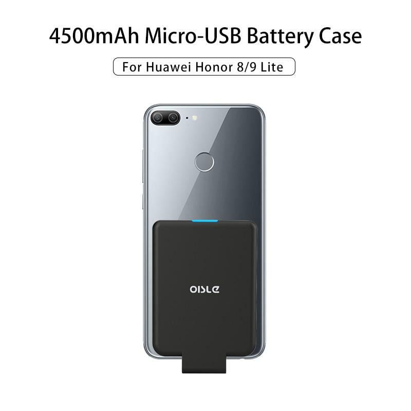 Banco de potencia inteligente de 4500mAh para Honor 8 9 Lite 7A Pro 8X Huawei P9 Lite Micro USB Delgado Paquete de batería externa funda cargadora de batería