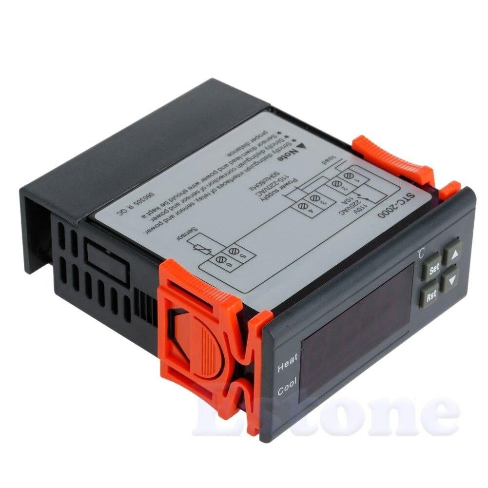 STC-2000 220 V-55 120Celsius controlador de temperatura Digital termopar con Sensor