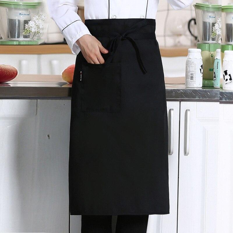 1 шт., кухонный фартук для приготовления пищи, рабочий обеденный фартук средней длины с длинной талией, фартук для поваров, форменная одежда официантов, необходимые товары для дома