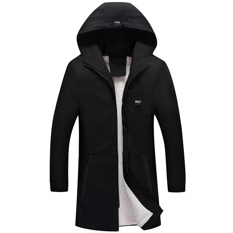2021 brand clothing men winter parka long section 2 colors new warm thicken jacket outwear windproof coat hooded plus size s 4xl Loldeal Parka Men Coats Winter Jacket Slim Thicken Fur Hooded Outwear Warm  Clothing Casual Medium long plus velvet thick coat