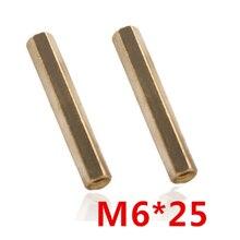 M6x25 Шестигранная гайка/винтовая Шестигранная головка латунная Резьбовая Опора Женская Стойка для печатной платы