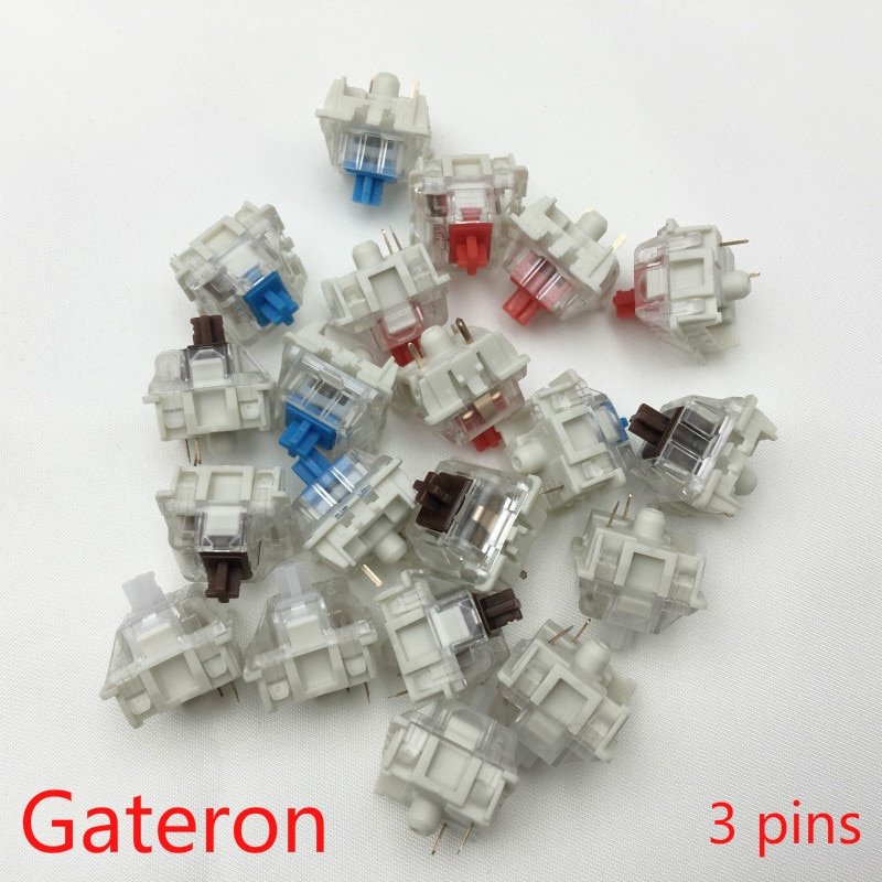 Gateron SMD Switches black red brown blue clear green yellow 3pins Gateron Switch for Mechanical Keyboard fit GK61GK64 GH60