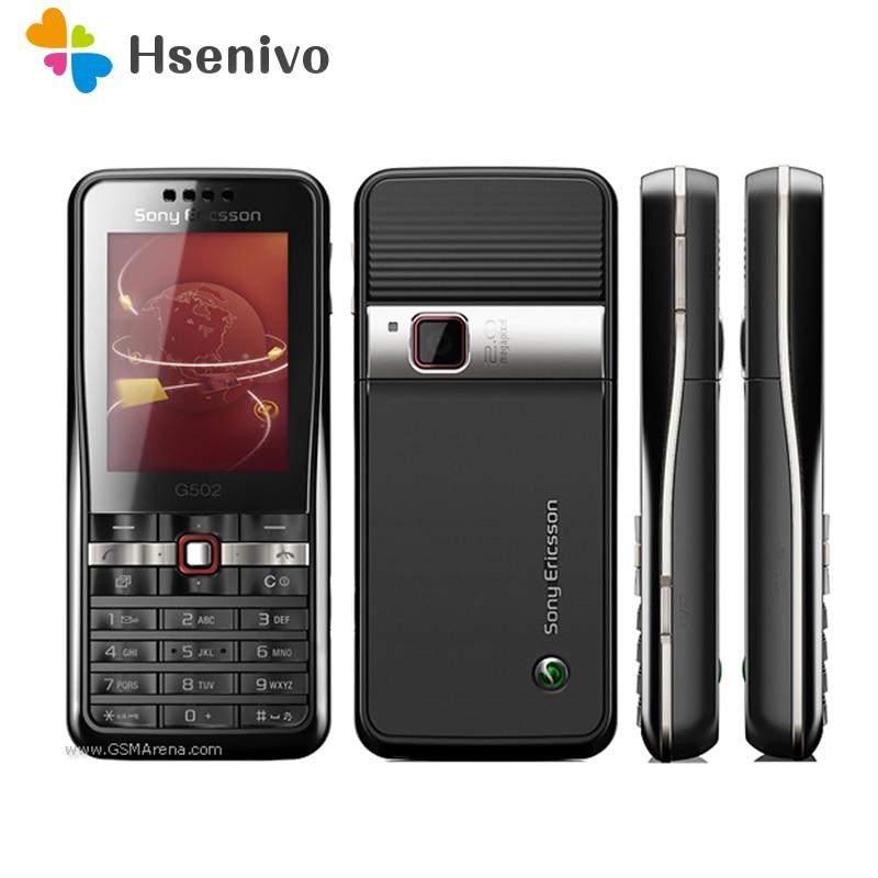 G502 100% Original Unlokced Sony Ericsson G502C Mobile Phone 2G Bluetooth 2.0MP Camera FM Unlocked Cell Phone Free shipping