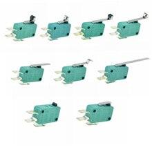 Micro interruptores de límite 16A 250V 125V NO + NC + COM 6,3mm 3 pines SPDT Micro interruptor 28mm 52mm arco rodillo Interruptor táctil microinterruptor