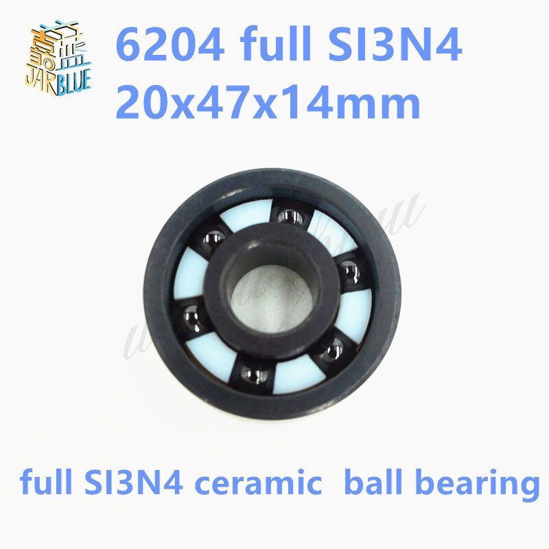 Free shipping 6204 full SI3N4 ceramic deep groove ball bearing 20x47x14mm