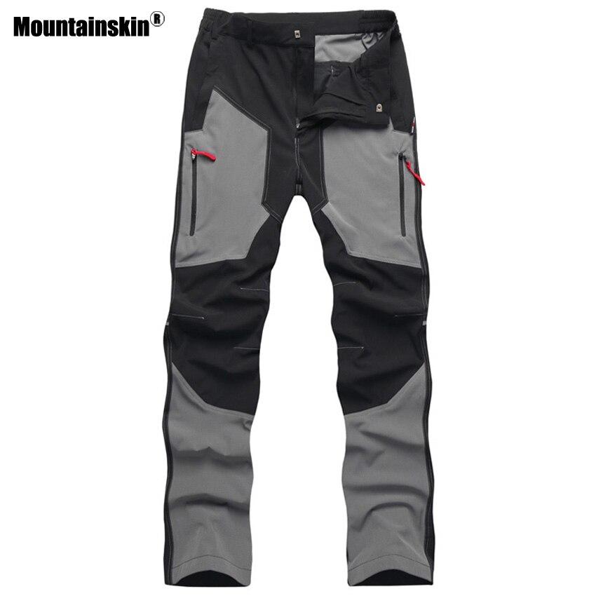 Pantalones deportivos de verano para hombre de Mountainskin, pantalones de senderismo impermeables transpirables al aire libre para acampar, caminata, pesca, pantalones tácticos VA259