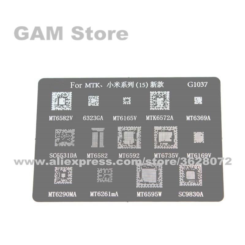 Para Xiaomi MT6582V 6323GA 6165V 6572A 6369A plantilla BGA MT6582 6592 6735V 6169V 6595W SC6531 9830 Reball soldadura estaño red para planta