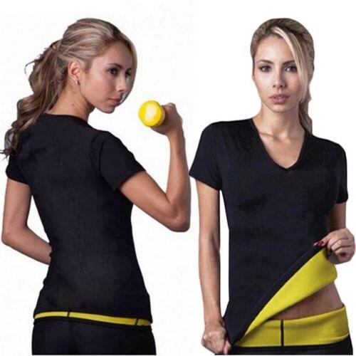 Mujeres Hot neopreno Sauna Bodyshaper adelgazamiento cintura camiseta Tops tamaño S-XXXL