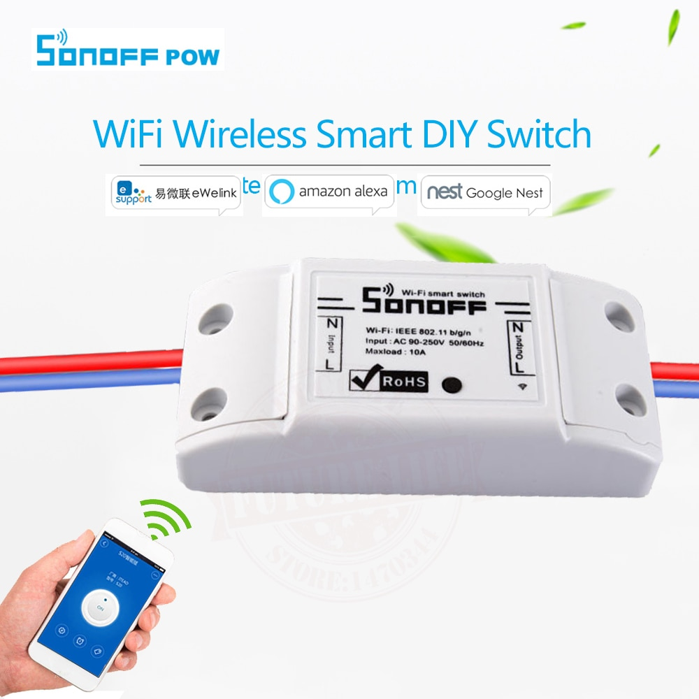 Yeni Itead Sonoff Akıllı Wifi Kablosuz Anahtarı Akıllı Evrensel DIY Anahtarı MQTT COAP Android IOS Uzaktan Kumanda Akıllı Ev Için