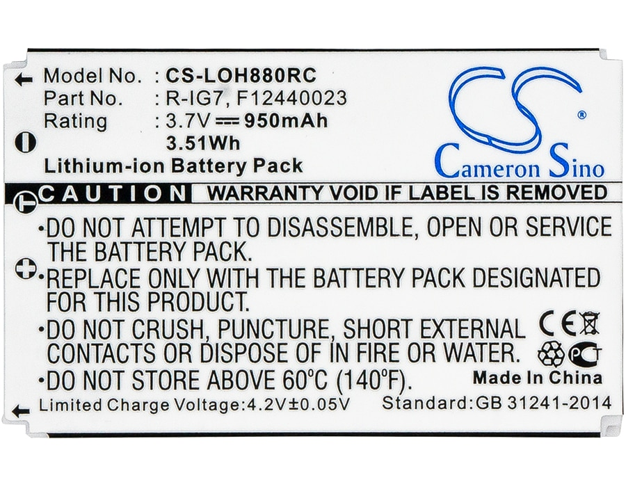 Cameron Sino batería de 950mAh para Logitech Harmony 900 Pro 900 control remoto uno MX-880... MX-890... R-1G7 monstruo AVL300... AVL300s... MCC-AV100