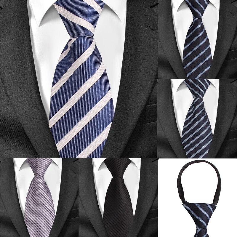8 см Ширина предварительно завязанный Галстук для шеи мужской классический галстук с молнией для мужчин жаккардовый галстук для жениха вечерние галстуки галстук черный серый костюм галстуки