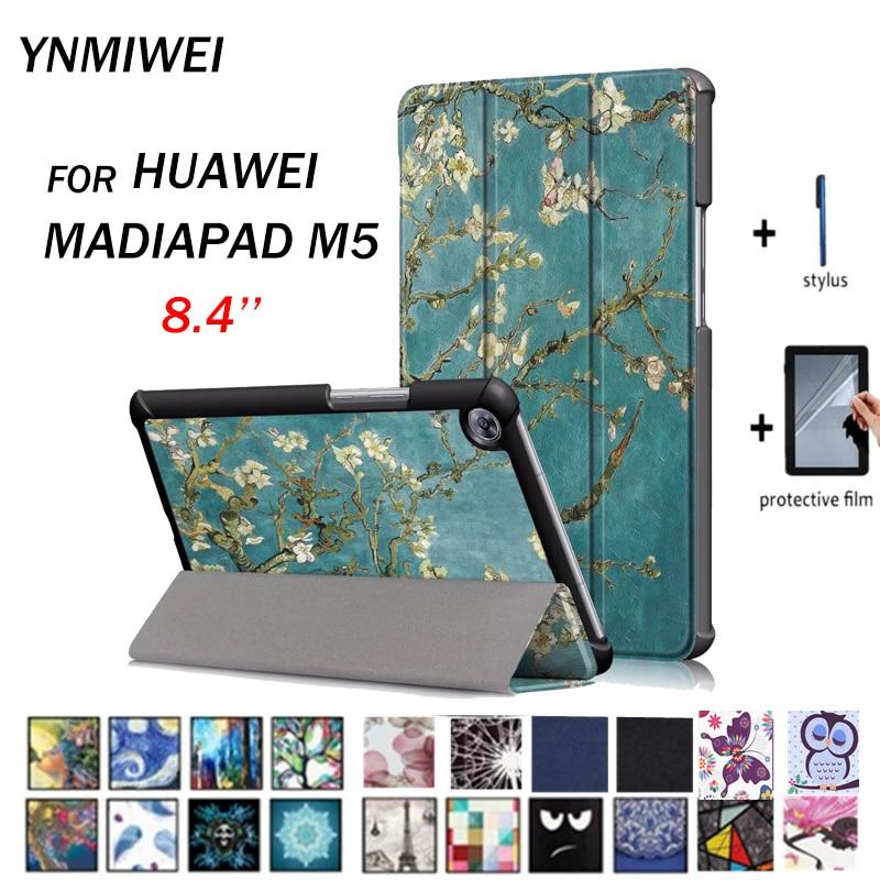 Flip Case For Huawei Mediapad M5 8.4 Smart PU Leather Case For Huawei  Mediapad M5 8.4 SHT-AL09 SHT-W09 Tablet Case