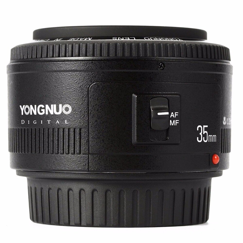 YONGNUO YN35mm F2.0 F2N lente, YN50mm lente para Nikon F montaje D7100 D3200 D3300 D3100 D5100 D90 DSLR Cámara, para Canon cámara DSLR