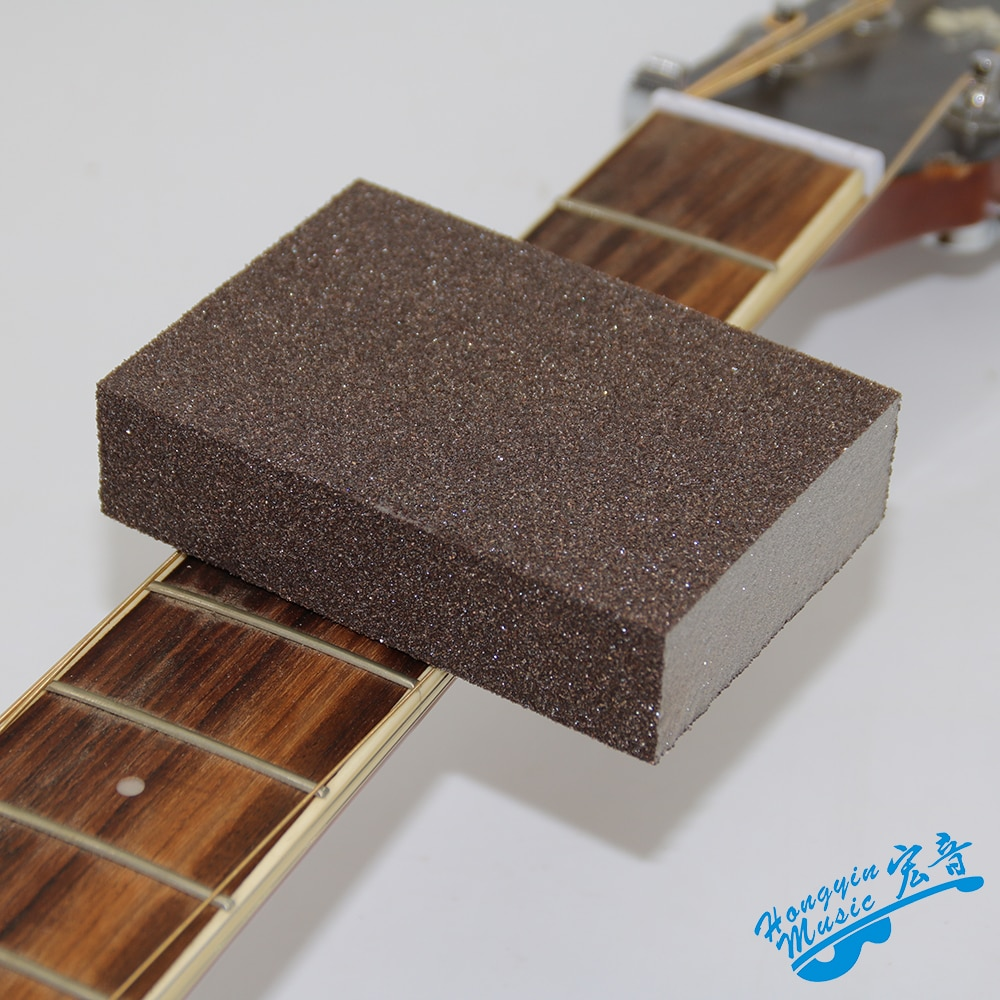 Guitare professionnelle Fret outil de meulage éponge bloc de polissage outils dentretien et dentretien pour guitare 150*150*30mm