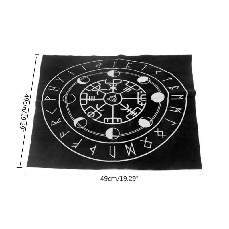 Высокое качество 49x49 см Таро скатерть Тройная Луна пентаграмма языческий алтарь Таро ткань фланель