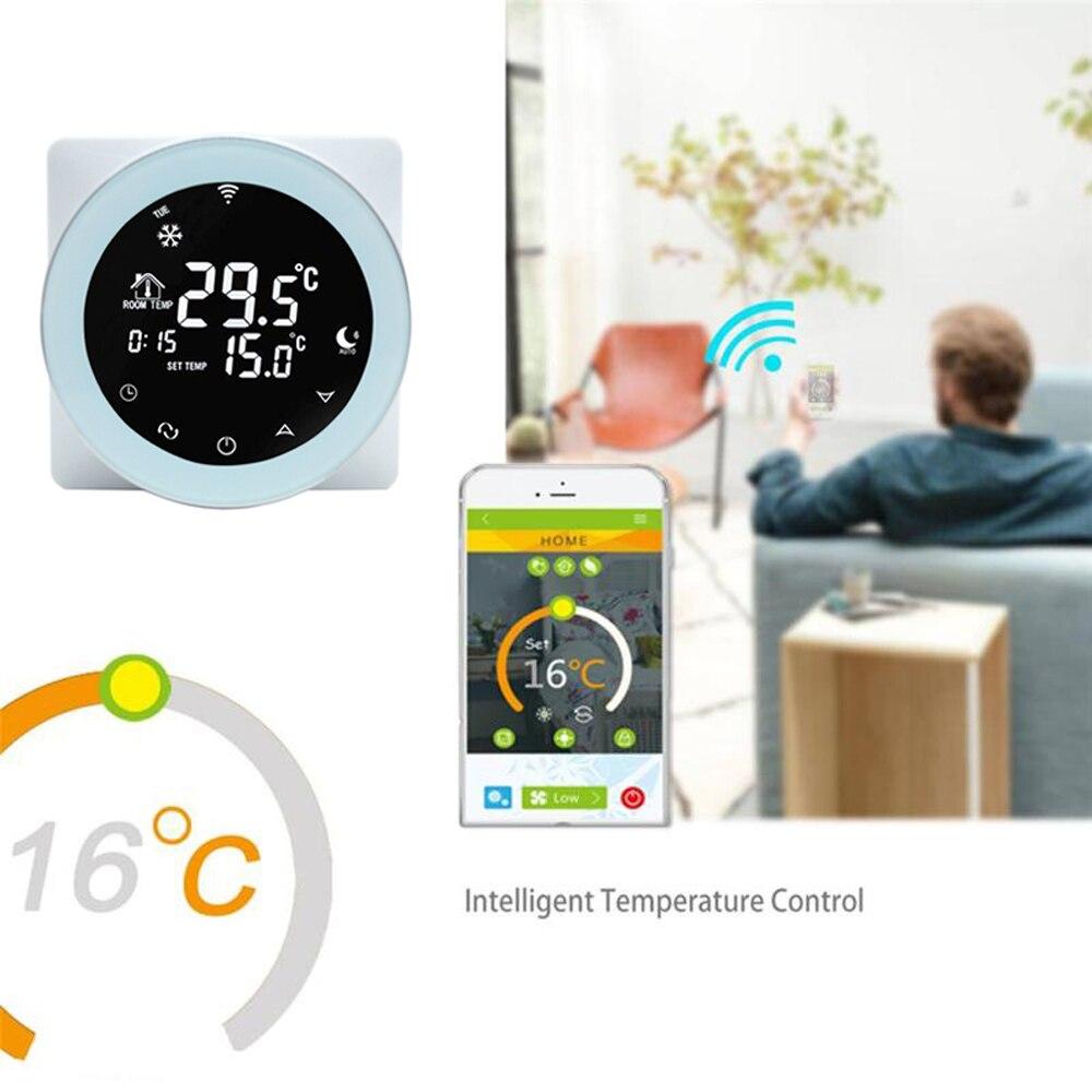 Wifi ترموستات الغاز المرجل التدفئة ترموستات الغاز المرجل محدب برمجة متحكم في درجة الحرارة اليكسا/جوجل المنزل الشتاء