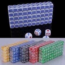 10 Pcs 14 Mm Opaque Kleurrijke Poker Chips Dobbelstenen Zes Zijdig Spot Fun Board Game Dobbelstenen D & D Rpg games Party Dobbelstenen Gokken Game Dices