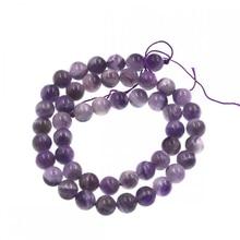 Natural stone round 8mm amythests quartzs beads full strand