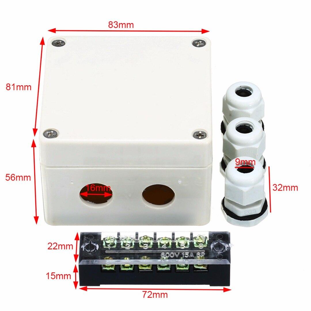 1 pc Caixa de distribuição Elétrica Caixa de Distribuição Caixa de Junção À Prova D Água Caso 6 Portas Com Conectores Terminais Para A Electricidade Ferrovias