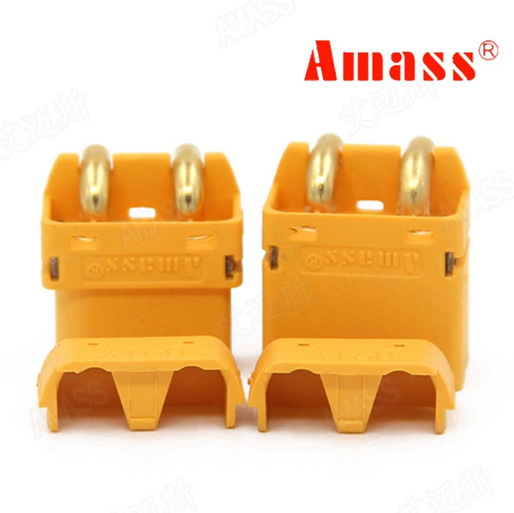 5 uds. Conector Amass XT60PW XT60Horizontal placa de circuito enchufe 60A envío gratuito