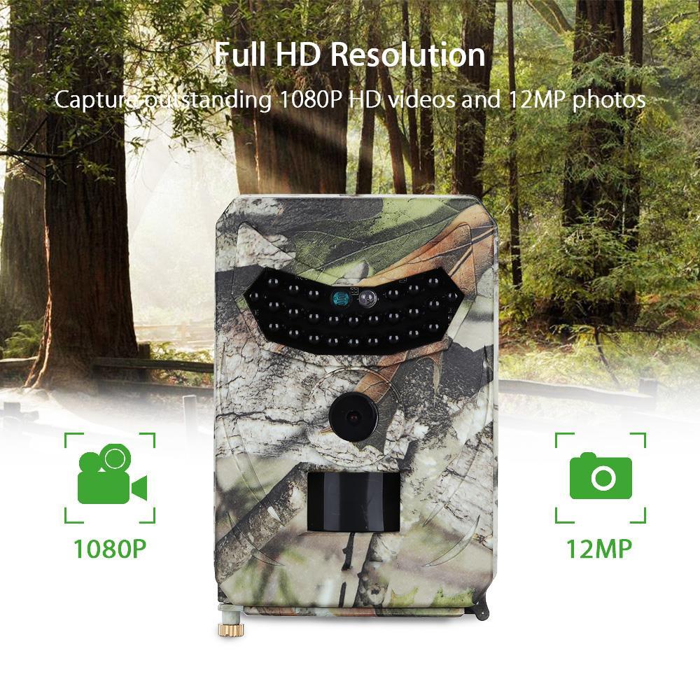 PR-100 cámara de caza 12MP cámara de trampa fotográfica 1080P cámaras de rastreo de Vida Silvestre 940NM visión nocturna impermeable IP56 Scount guard Cámara