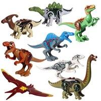 Jurrassic World Brutal Raptor Building Blocks Jurrassic World Dinosaurs Park Bricks Toys For Children Christmas gift