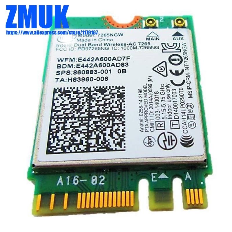2x2 7265NGW Dual Band Sem Fio-AC 802.11ac WiFi + Cartão Combo Para hp 600G3PD BT4.2 800G3ED Series, SPS 860883-001 (10022)