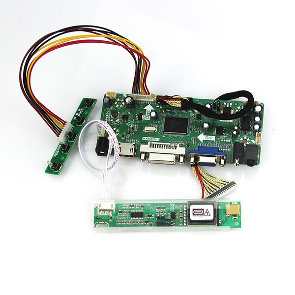 M. NT68676 LCD/LED Controller Driver Board Para LP154W01-A3 LTN154X3-L01 LTN154X1-L02 LTN154AT01 (HDMI + VGA + DVI + Audio)