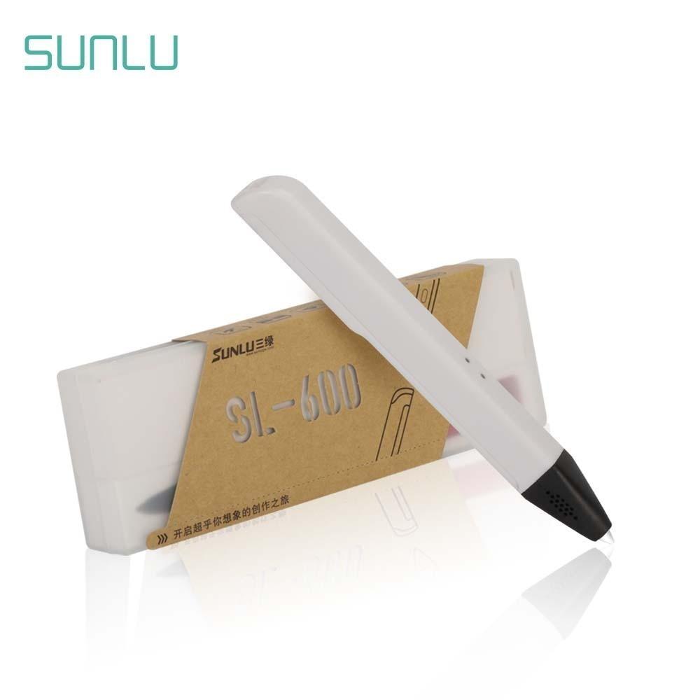 SUNLU-stylo 3D, SL-600, Filament PLA/PCL, 1.75MM, pour enfants et adultes, artisanat, nouvel Art, stylos griffoir à la mode