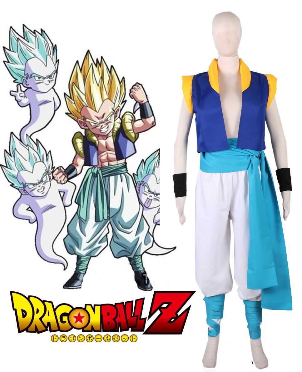 Dragonball Z Son Goten and Trunks Gotenks Fighting Uniform Cosplay Costume