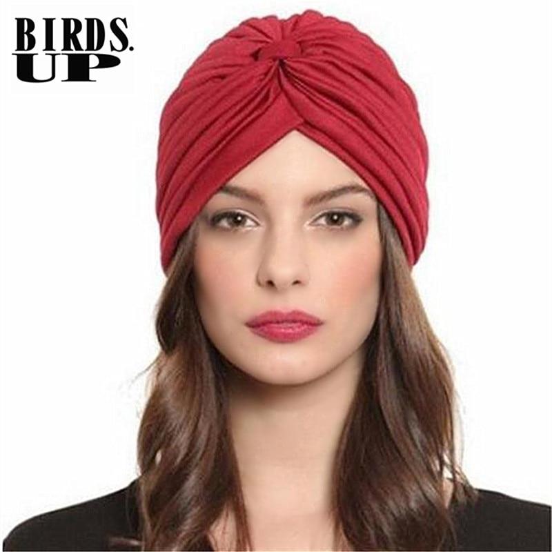 Womens Turban Hats India Cap Headwrap Warm Ear Caps Sleep Hat Beanies Head Scarf Bandana Turbante Chapeaux Sombreros Accessory