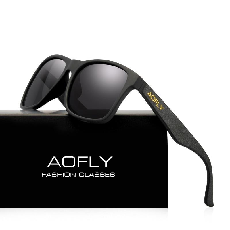 AOFLY старинные ретро поляризованных солнцезащитных очков Мужчины покрытие зеркало вождения солнцезащитные очки Polaroid объектив квадратные о...