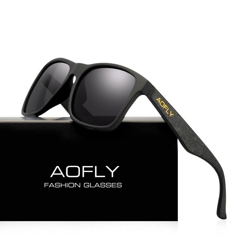 AOFLY BRAND DESIGN Night Vision Glasses Polarized Sunglasses Men Yellow Anti Glare Vintage Driving Sun Glasses Goggles UV400