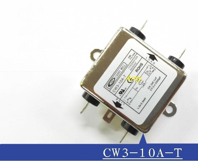 Filtro EMI de potencia CW3 6A 10A 20A T ca monofásica 220V