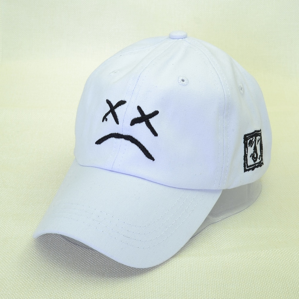 100% algodón Lil Peep bordado gorra de béisbol cara triste sombrero xxxtentacion de Hip Hop gorra de Golf amor lil peep Snapback hombres y mujeres sombrero de papá